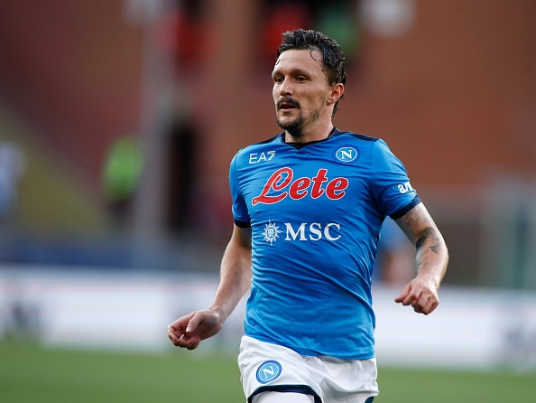 Mário Rui during the Serie A match between Genoa CFC and SSC Napoli at Stadio Luigi Ferraris on August 29, 2021 in Genoa, Italy. (Photo by Loris Roselli/NurPhoto via Getty Images)