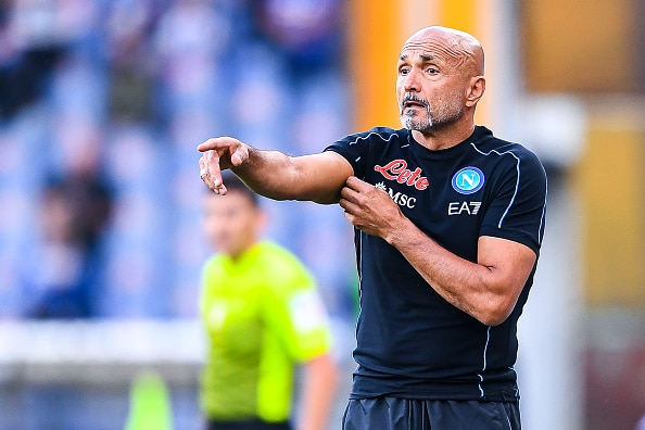 GENOA, ITALY - SEPTEMBER 23: Luciano Spalletti head coach of Napoli gestures during the Serie A match between UC Sampdoria and SSC Napoli at Stadio Luigi Ferraris on September 23, 2021 in Genoa, Italy. (Photo by Getty Images)