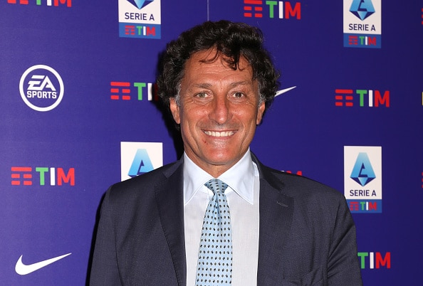 MILAN, ITALY - JULY 14:  Stefano Campoccia attends the serie A football League draws For 2021-2022 season photocall on July 14, 2021 in Milan, Italy. (Photo by Vincenzo Lombardo/Getty Images)