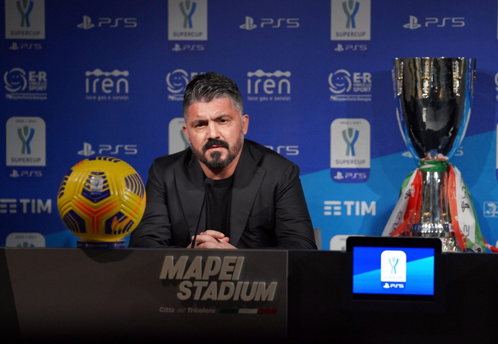 SSC Napoli Press Conference - Italian PS5 Supercup