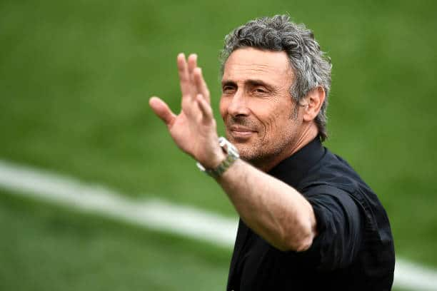 STADIO GIUSEPPE MEAZZA, MILAN, ITALY - 2021/05/23: Luca Gotti, head coach of Udinese Calcio, gestures during the award ceremony after the Serie A football match between FC Internazionale and Udinese Calcio. FC Internazionale won 5-1 over Udinese Calcio. (Photo by Nicolò Campo/LightRocket via Getty Images)