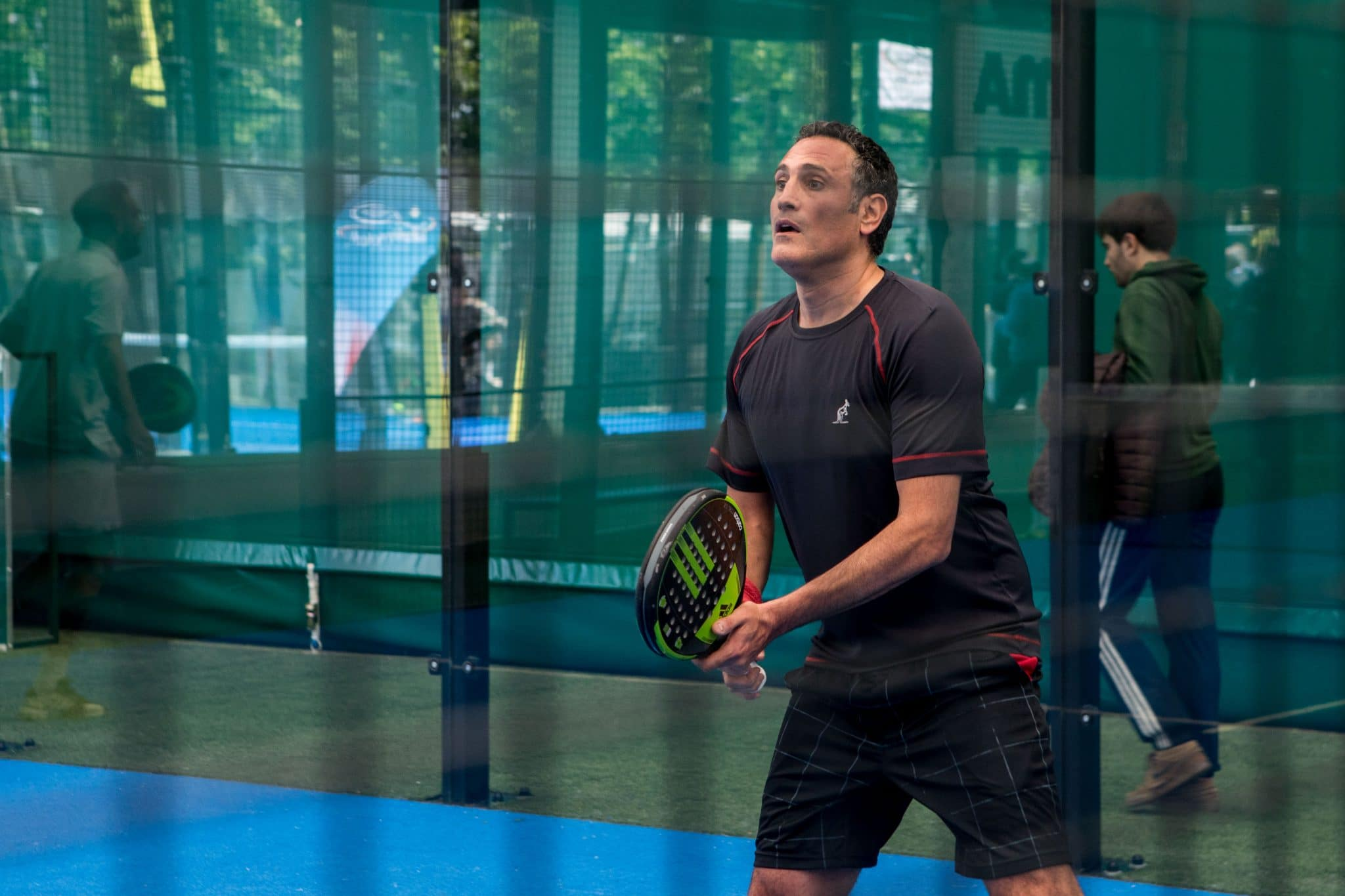 Nicola Amoruso during the mini padel tournament organized with 35 legends of Italian soccer, in Milan, Italy, on May 21, 2019. (Photo by Mairo Cinquetti/NurPhoto via Getty Images)