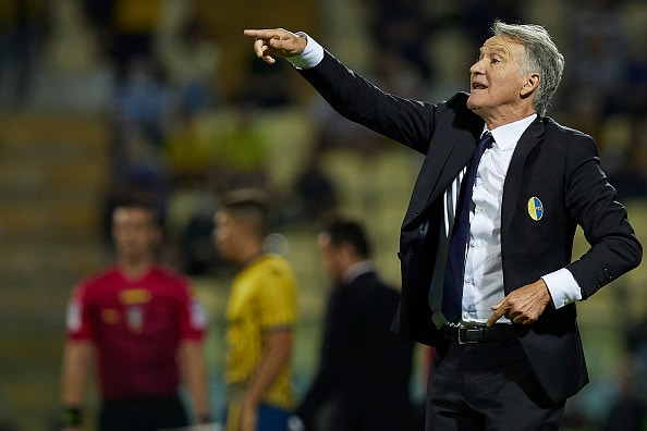 MODENA, ITALY - SEPTEMBER 06: Attilio Tesser, Manager of Modena FC reacts during the Serie C match between Modena FC and AC Reggiana at Alberto Braglia Stadium on September 06, 2021 in Modena, Italy. (Photo by Emmanuele Ciancaglini/Getty Images)