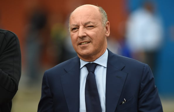 VILLAR PEROSA, ITALY - AUGUST 20:  Juventus FC general manager Beppe Marotta looks on prior to the pre-season friendly match between Juventus A and Juventus B on August 20, 2014 in Villar Perosa, Italy.  (Photo by Valerio Pennicino/Getty Images)