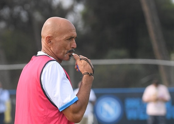 NAPLES, ITALY - SEPTEMBER 29: Head coach Luciano Spalletti of Napoli attends a training session on September 29, 2021 in Naples, Italy. (Photo by SSC NAPOLI/SSC NAPOLI via Getty Images)